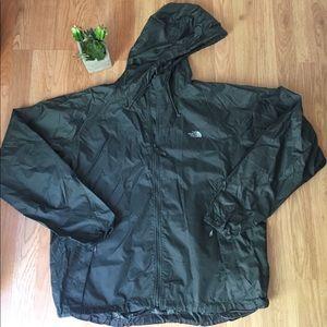 THE NORTH FACE Stow Nylon Dark Gray Hooded Jacket